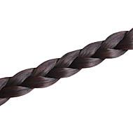 pince à la main brun foncé en morceaux de cheveux Fishbone tresse frange de tresse de cheveux synthétiques