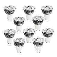 GU10 Spot LED 4 LED Haute Puissance 400-450 lm Blanc Chaud Blanc Froid Blanc Naturel Intensité Réglable AC 100-240 V 10 pièces