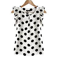 Damă Rotund Bluză Casul/Zilnic Plus Size Simplu(ă),Buline Manșon scurt Vară-Translucență Poliester