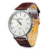 Pánské Náramkové hodinky japonština Křemenný PU Kapela Běžné nošení Minimalistické Černá Bílá Červená Hnědá
