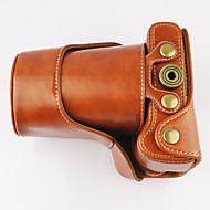 nieuwe EOS m3 camera case voor canon eos m3 d.camera (zwart / bruin)