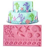 blonder fondant mold kake dekorasjon mold tilfeldig farge fm-09