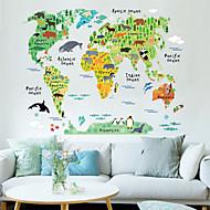 Eläimet Piirretty Maisema Wall Tarrat Lentokone-seinätarrat Koriste-seinätarrat materiaali Siirrettävä Kodinsisustus Seinätarra