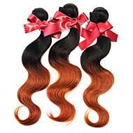 Peruvian hårvæv bundter body bølge to tone ombre t1b / 30 peruvian virgin menneskehår extensions 1pcs 50g / pcs