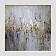 Pintados à mão Fantasia Quadrangular,Moderno 1 Painel Pintura a Óleo For Decoração para casa