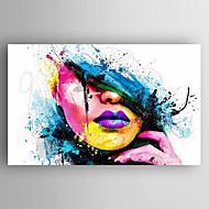 Ручная роспись Абстрактные портреты Вертикальная,Modern 1 панель Холст Hang-роспись маслом For Украшение дома