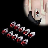 Nail Jewelry - Punk - Sormi - Metalli - 12mm×7mm - 10pcs