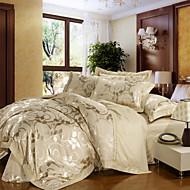 Pussilakanasetti setit Geometrinen 4 osainen Silk/Cotton Blend Hand-made Silk/Cotton Blend1 kpl pussilakana 2kpl torkkupeitteitä 1 kpl