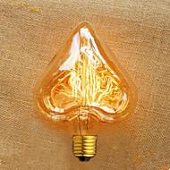 szív alakú egyenes 40 huzal w e27 220 v Edison villanykörte