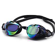 수영 고글 안티 - 안개 조정가능한 사이즈 안티 UV 편광 렌즈 방수 실리카 겔 PC 화이트 그레이 블랙 핑크 블랙 블루 라이트 블루 투명