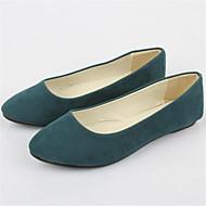 Feminino Sapatos Flanelado Verão Rasteiro Para Casual Khaki Verde Claro Azul Real Vinho Verde Escuro