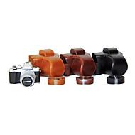 תיק נרתיק עור המצלמה dengpin® pu כיסוי עם רצועת כתף עבור mark2 סימן דואר m10 אולימפוס ii em10 (צבעים שונים)