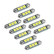 youoklight podlouhlá 36mm 1 watt 60lm 3x5050 SMD 60lm 6000-6500k bílé světlo LED žárovka auto lampy (DC 12V)