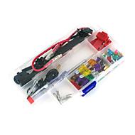 carro 12v adicione-a-circuito fusível lâmina adaptador de torneira atm aps titular att fusível lâmina, 30pçs fusível, saca-fusíveis