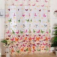 Jedna ploča Prozor Liječenje Zemlja Living Room Polyester Materijal Sheer Zavjese Shades Početna Dekoracija For Prozor