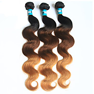 Halloween 3 pieces body wave ihmisen hiukset weaves brasilialainen tekstuuri ihmisen hiukset weaves body wave