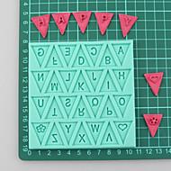 Flagge Brief Textur Pad Fondantkuchen Formen Schokoladenform für die Küche Back