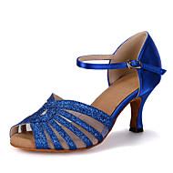 Sapatos de Dança(Azul / Vermelho / Dourado) -Feminino-Personalizável-Dança do Ventre / Latina / Jazz / Tênis de Dança / Moderna / Samba /