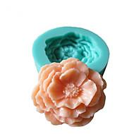 Mold Peony 3D Flores Silicone Fondant Moldes Sugar Craft Moldes de chocolate para bolos