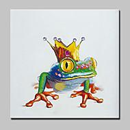 Pintados à mão Abstrato / Animal / Desenho Animado / PopModerno 1 Painel Tela Pintura a Óleo For Decoração para casa
