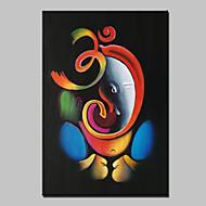 Håndmalte Abstrakt Dyr Højtid Lodrett,Moderne Et Panel Lerret Hang malte oljemaleri For Hjem Dekor