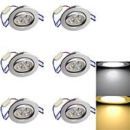 3W Lumini Recessed 3 LED Putere Mare 280 lm Alb Cald / Alb Rece Decorativ AC 85-265 / AC 220-240 / AC 110 - 130 V 6 bc
