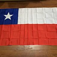 Chilen lippu 90 * 150cm lippujamme myydään maailmassa näyte mittatilaustyönä laatu polyesteri juhla koriste
