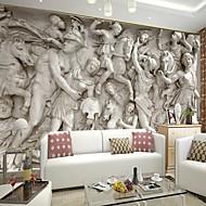 retro 3d fényes bőr hatás nagy freskót tapéta római relief art fali dekoráció tv kanapé háttér fal