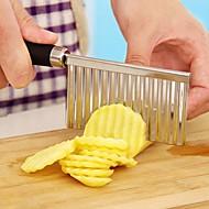 rozsdamentes acél burgonya hullámos élű késsel gadget zöldség gyümölcs burgonya vágó hámozó konyhai főzéshez eszközök