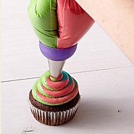τρία χρώματα ζαχαροπλαστικής σωλήνα διακόσμηση