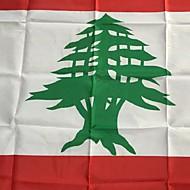 3x5 jalat libanon lippu 90 * 150cm maailman liput tapahtumiin osapuolen festivaali paraati hissi kodin sisustamiseen
