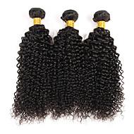 """3 paquets de cheveux bruns frisés brins bruns armés 8 """"-30"""" extensions de trame de cheveux non traitées couleur naturelle 300g"""