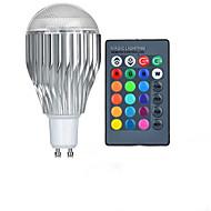 Gu10 85v-265v 10w rgb dálkové ovládání vedly barevné žárovky