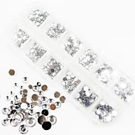 1200pcs ab väri akryyli timantti kynsikoristeet koristeet 1,5 / 2/3/4/5/6 mm