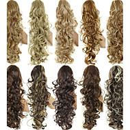 ציפורניים קוקו hairpieces טבעי שחור / חום כהה / חום בינוני / חום בהיר / בלונד תות