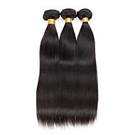 3 Peças Retas Tramas de cabelo humano Cabelo Brasileiro 100g per bundle 8inch-28inch Extensões de cabelo humano
