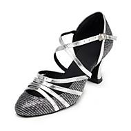 sapatos de dança couro superior buckie samba das mulheres de salto alto