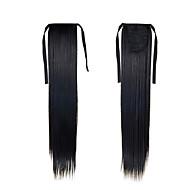 sintética postiços rabo de cavalo 22inch 55 centímetros 100g # 1 cor natural preto extensões de cabelo longo