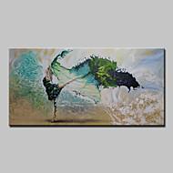 Kézzel festett Absztrakt Emberek Vízszintes,Modern Egy elem Vászon Hang festett olajfestmény For lakberendezési