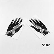 2pcs henné& aérographe tatouage stencil