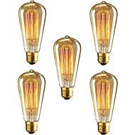 5db st64 e27 40w izzó szüret Edison villanykörte éttermi klub kávézó fény (220-240)
