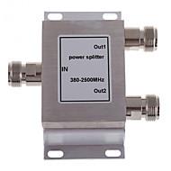 2-way n femelle diviseur de puissance séparateur 380-2500mhz pour téléphone mobile amplificateur de signal répéteur