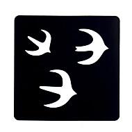 6pcs femmes tatouage au henné pochoir peinture d'art du corps de maquillage avalez oiseaux conception tatouage au henné pochoir