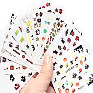 10 Nail Art matrica Víz Transfer Matricák Rajzfilm / Szeretetreméltő smink Kozmetika Nail Art Design
