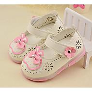Mädchen Baby Loafers & Slip-Ons Leuchtende LED-Schuhe PU Sommer Herbst Normal Leuchtende LED-Schuhe Schleife Flacher Absatz Weiß Pfirsich