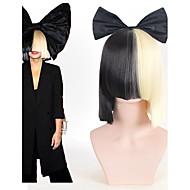 Naisten Lyhyt Musta Suora Otsatukalla Synteettiset hiukset Cosplay-peruukki Juhlaperuukki puku Peruukit