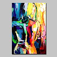 Ручная роспись Абстракция Люди Телесный Вертикальная,Modern 1 панель Холст Hang-роспись маслом For Украшение дома