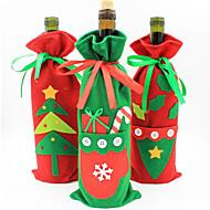 рождественские украшения новый набор шампанского бутылку вина подарочные пакеты конфет мешок рождественские цвета продуктов случайным