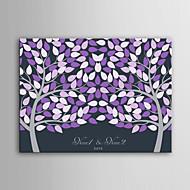 e-kotiin henkilökohtaisen allekirjoituksen canvas näkymätön runko print -purple kaksi suuria puita
