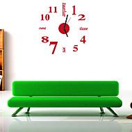 מודרני / עכשווי / משרד / עסקים בתים / משפחה / בית- ספר\ טקס סיום שעון קיר,עגול / מצחיק אקרילי / זכוכית 35.5CM/14inch בבית שָׁעוֹן